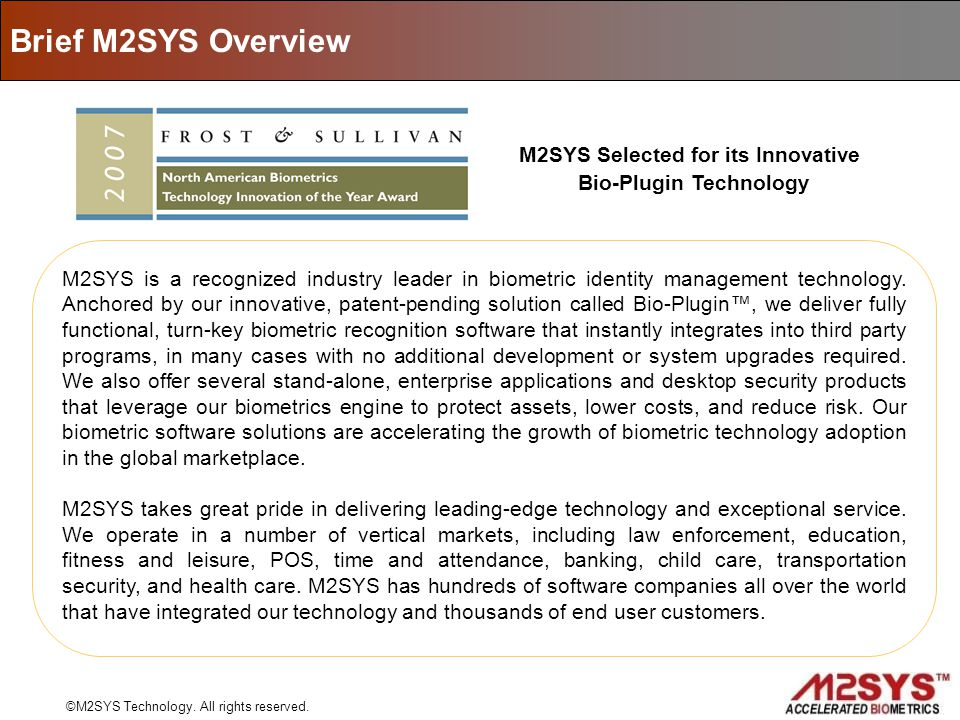 M2SYS Selected for its Innovative Bio-Plugin Technology