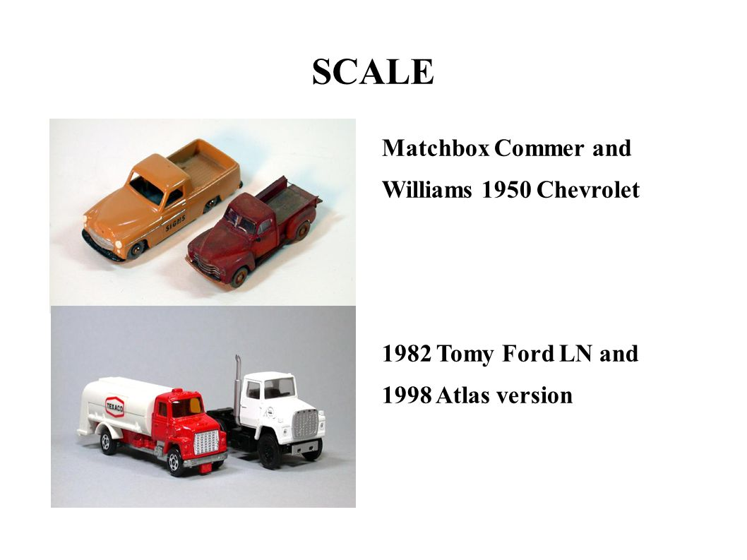 SCALE Matchbox Commer and Williams 1950 Chevrolet