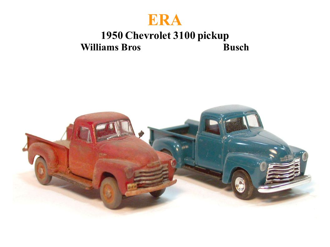 ERA 1950 Chevrolet 3100 pickup Williams Bros Busch