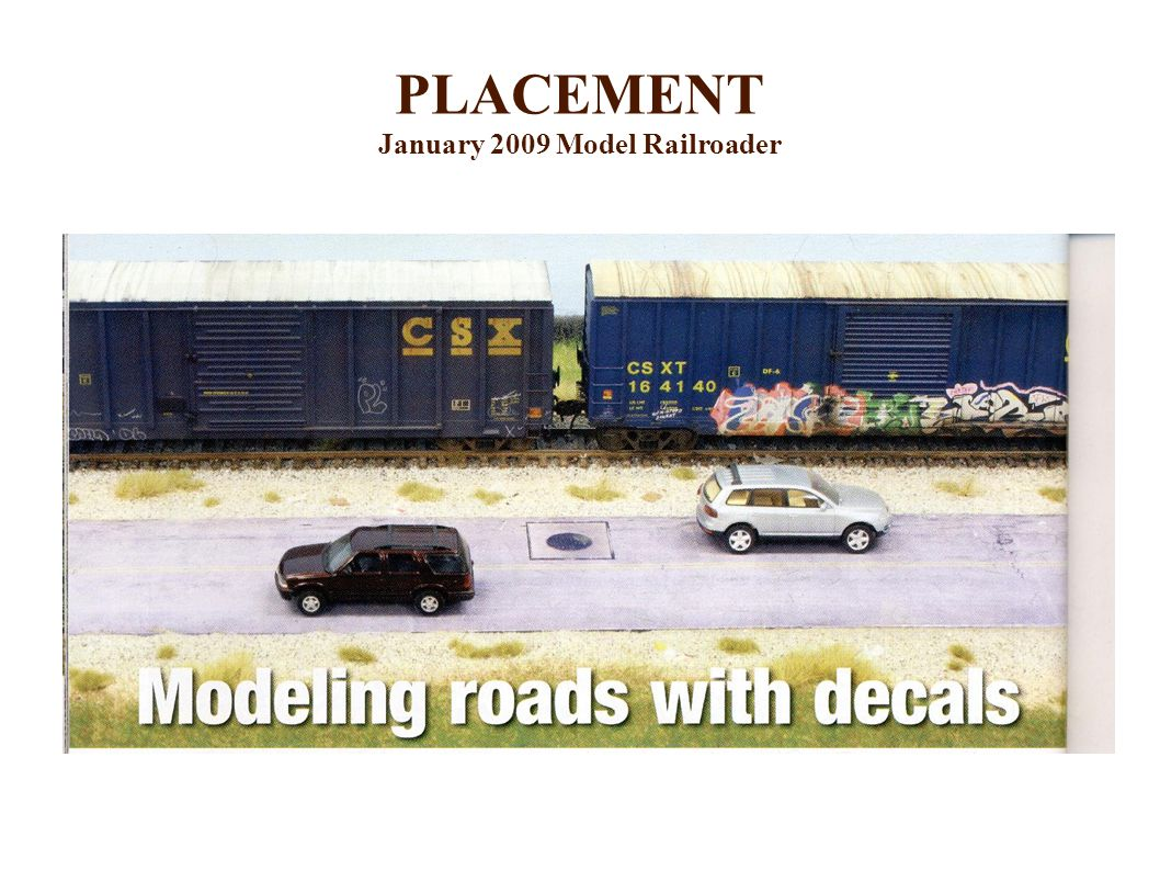 PLACEMENT January 2009 Model Railroader