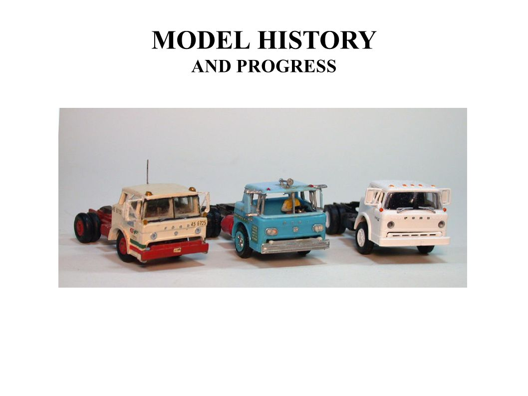MODEL HISTORY AND PROGRESS
