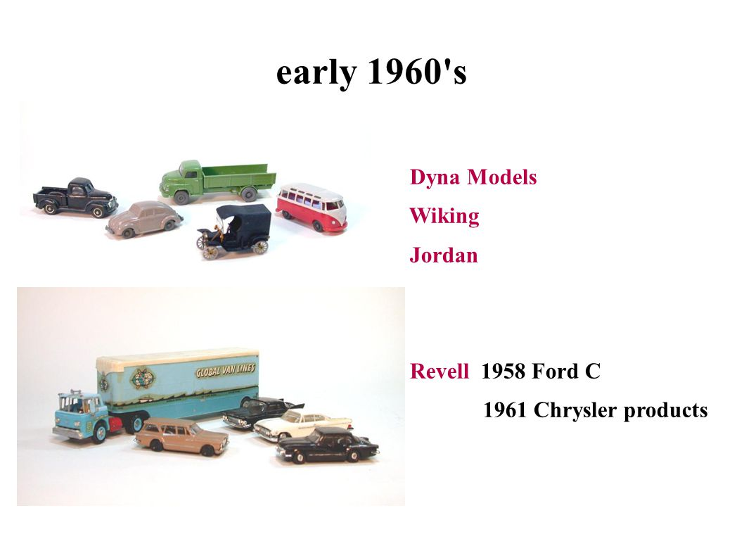 early 1960 s Dyna Models Wiking Jordan Revell 1958 Ford C