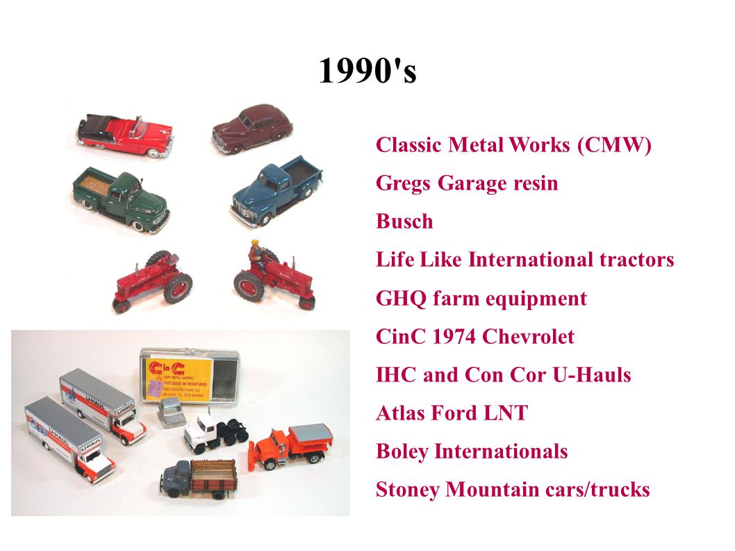 1990 s Classic Metal Works (CMW) Gregs Garage resin Busch