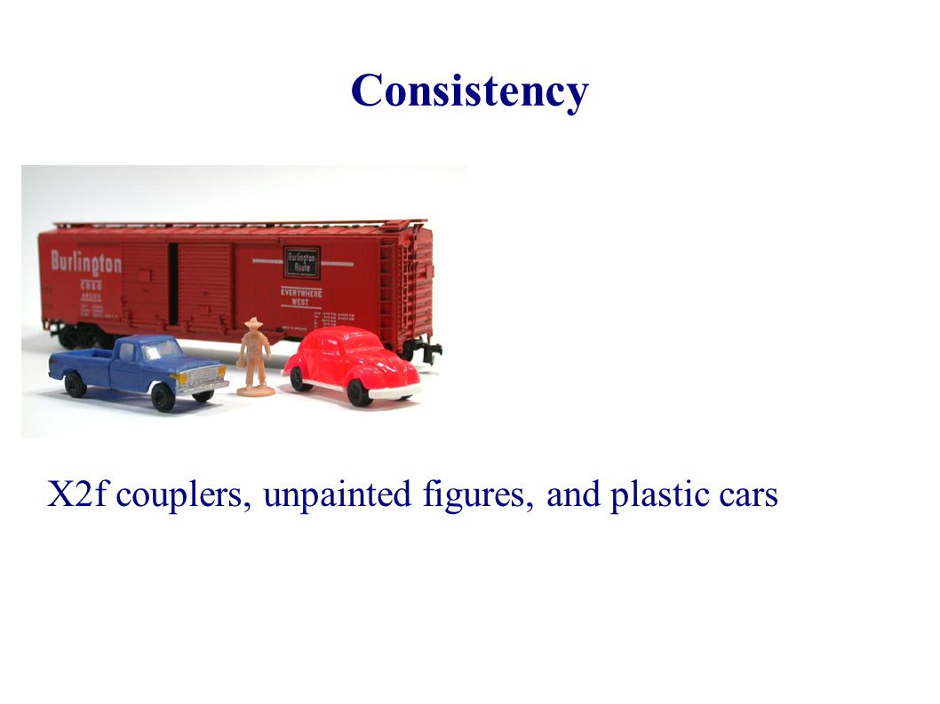 Consistency X2f couplers, unpainted figures, and plastic cars 3 3 3