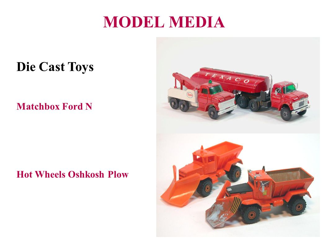 MODEL MEDIA Die Cast Toys Matchbox Ford N Hot Wheels Oshkosh Plow 33