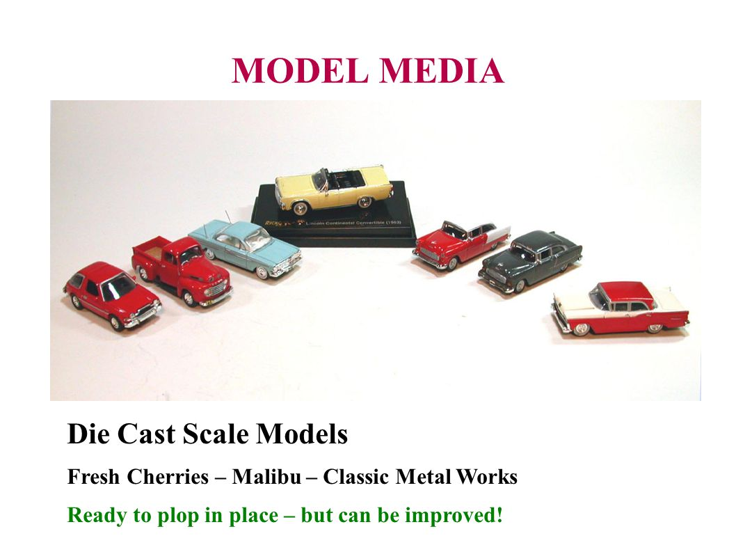 MODEL MEDIA Die Cast Scale Models