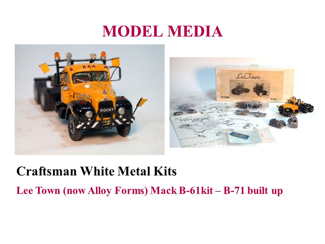 MODEL MEDIA Craftsman White Metal Kits