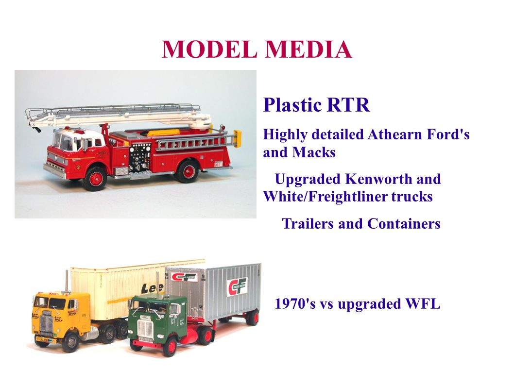 MODEL MEDIA Plastic RTR Highly detailed Athearn Ford s and Macks