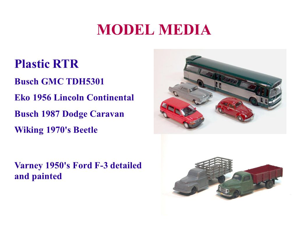 MODEL MEDIA Plastic RTR Busch GMC TDH5301 Eko 1956 Lincoln Continental
