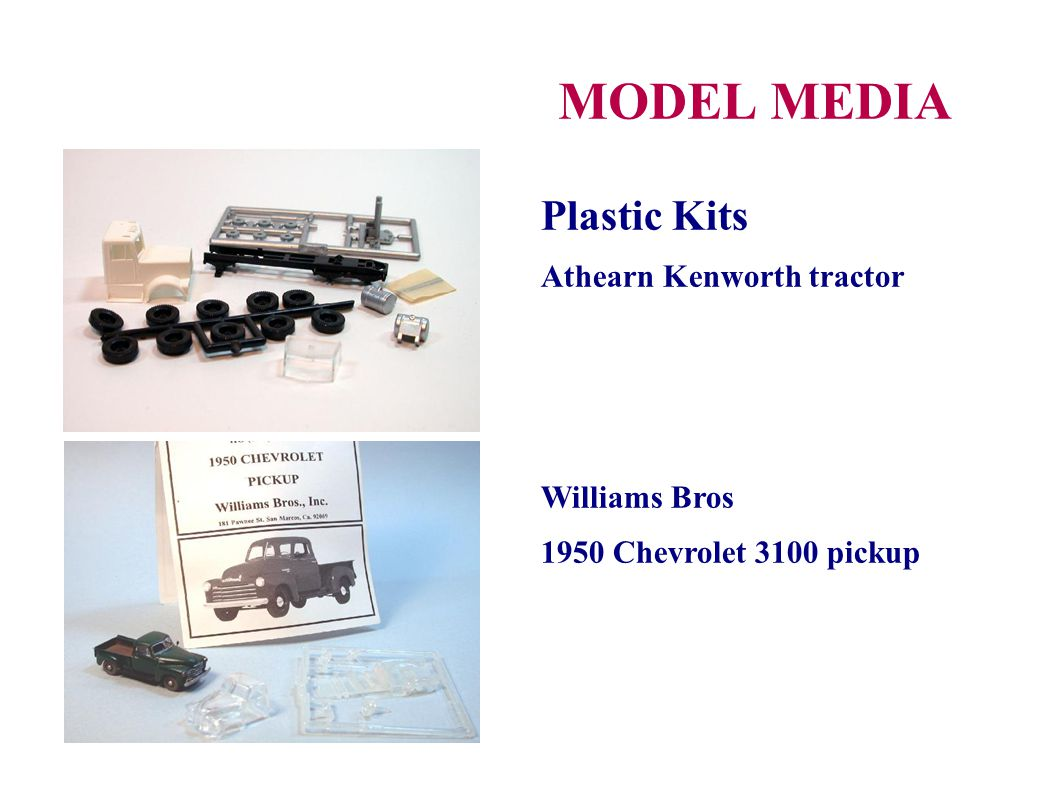 MODEL MEDIA Plastic Kits Athearn Kenworth tractor Williams Bros