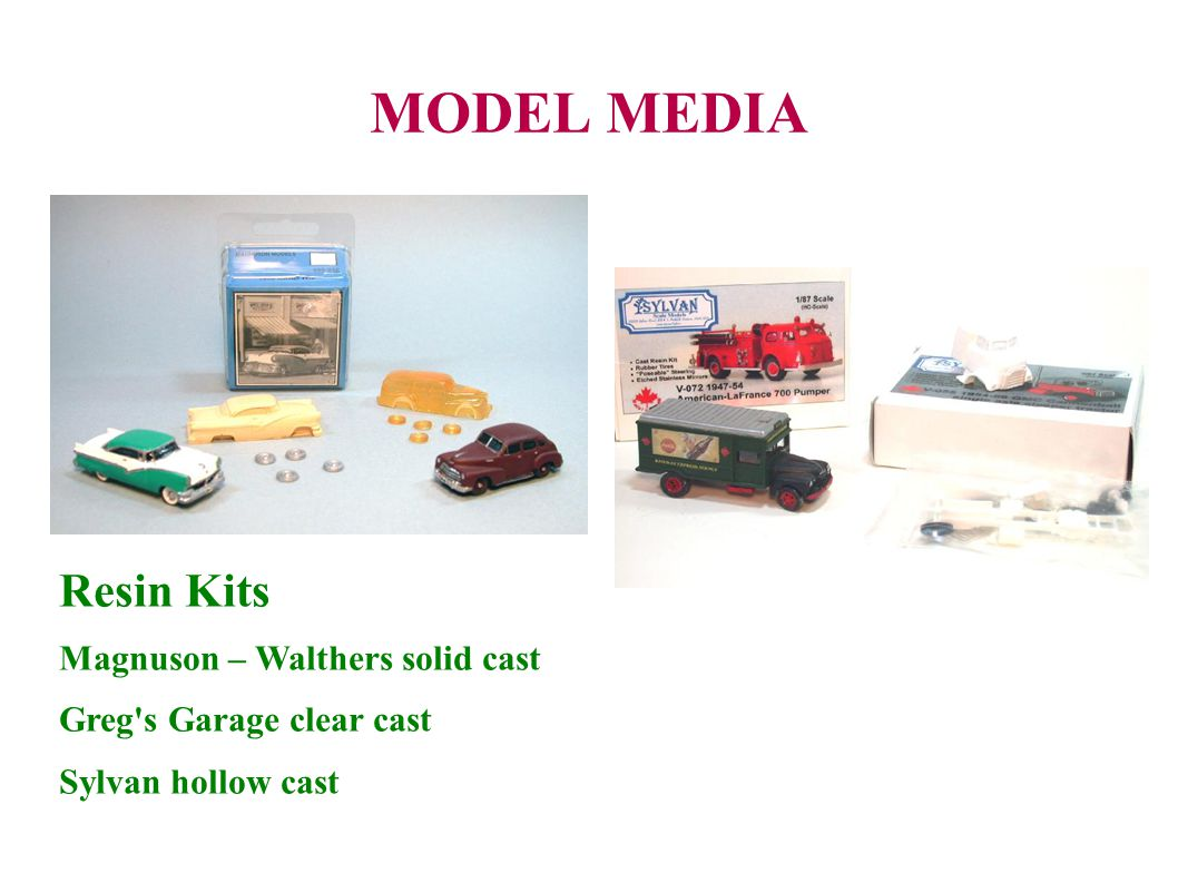 MODEL MEDIA Resin Kits Magnuson – Walthers solid cast