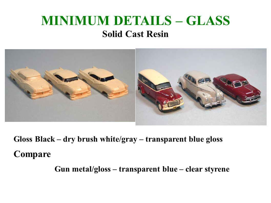 MINIMUM DETAILS – GLASS Solid Cast Resin