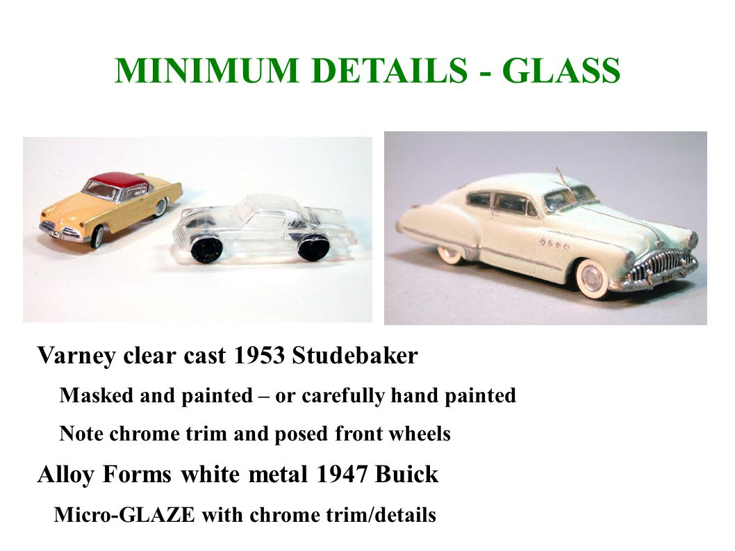 MINIMUM DETAILS - GLASS