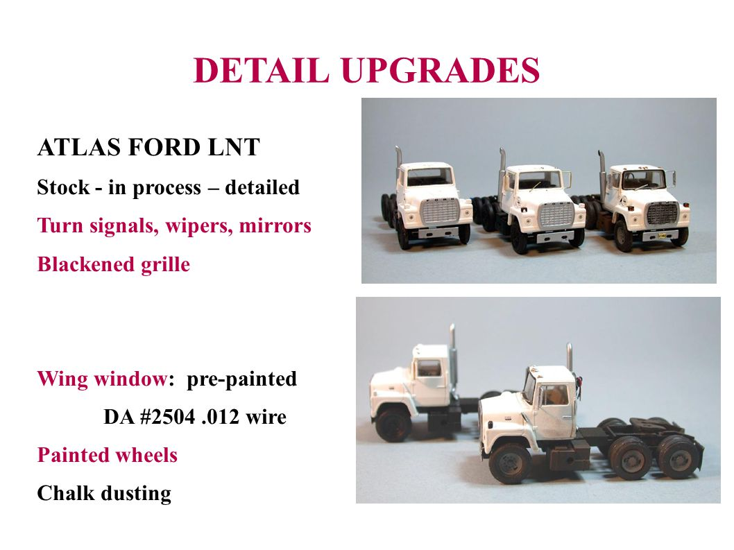 DETAIL UPGRADES ATLAS FORD LNT Stock - in process – detailed