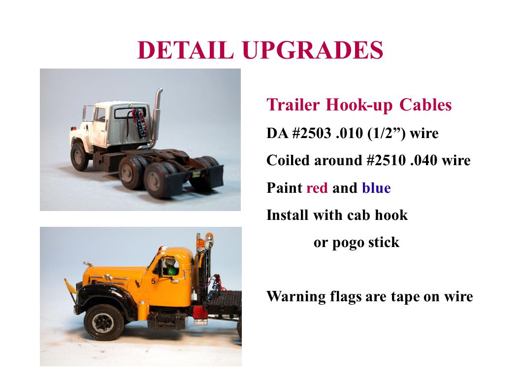 DETAIL UPGRADES Trailer Hook-up Cables DA #2503 .010 (1/2 ) wire
