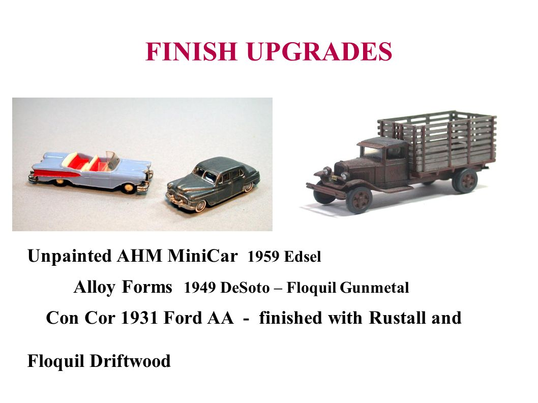 FINISH UPGRADES Unpainted AHM MiniCar 1959 Edsel