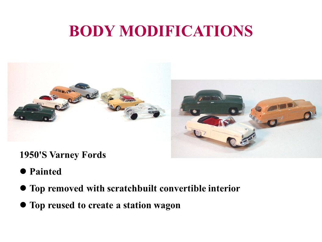 BODY MODIFICATIONS 1950 S Varney Fords Painted
