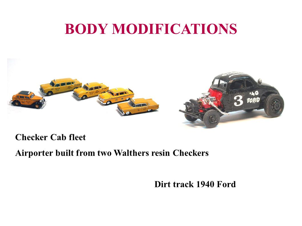 BODY MODIFICATIONS Checker Cab fleet