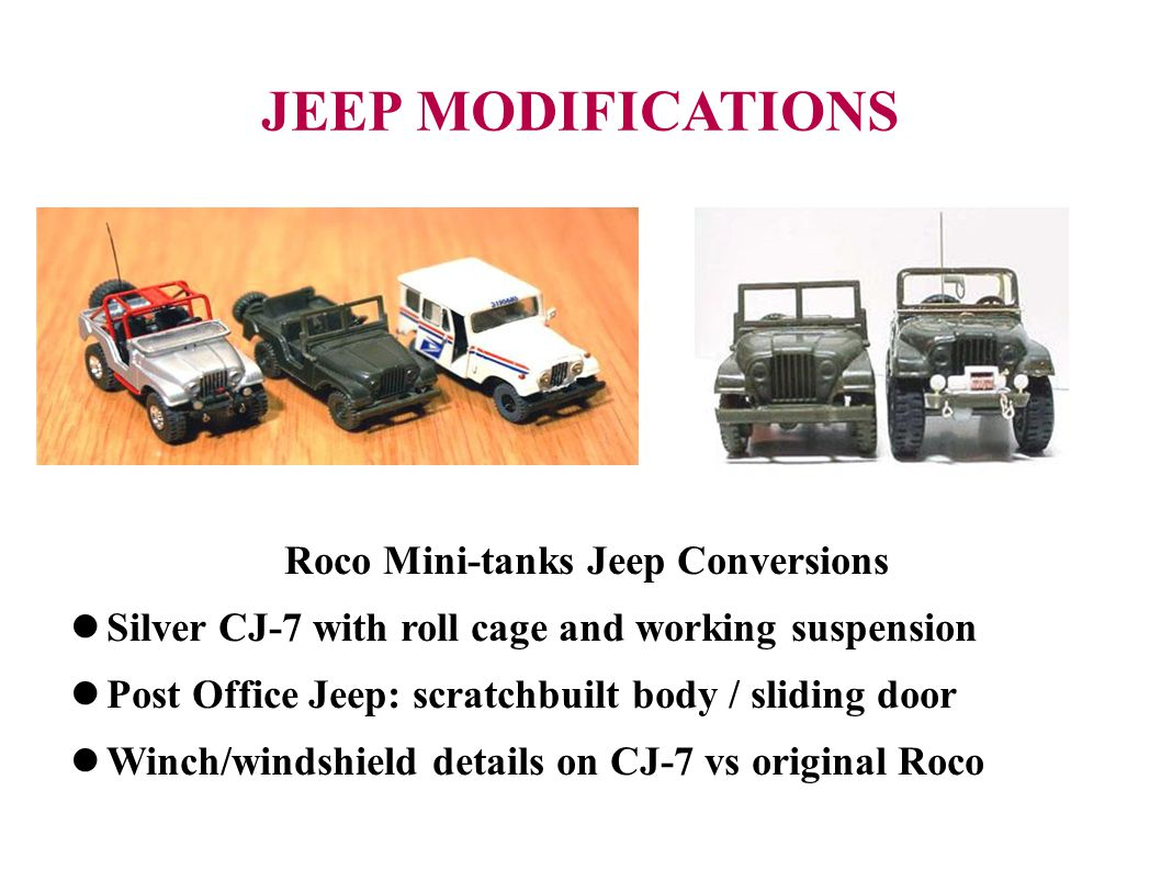 Roco Mini-tanks Jeep Conversions