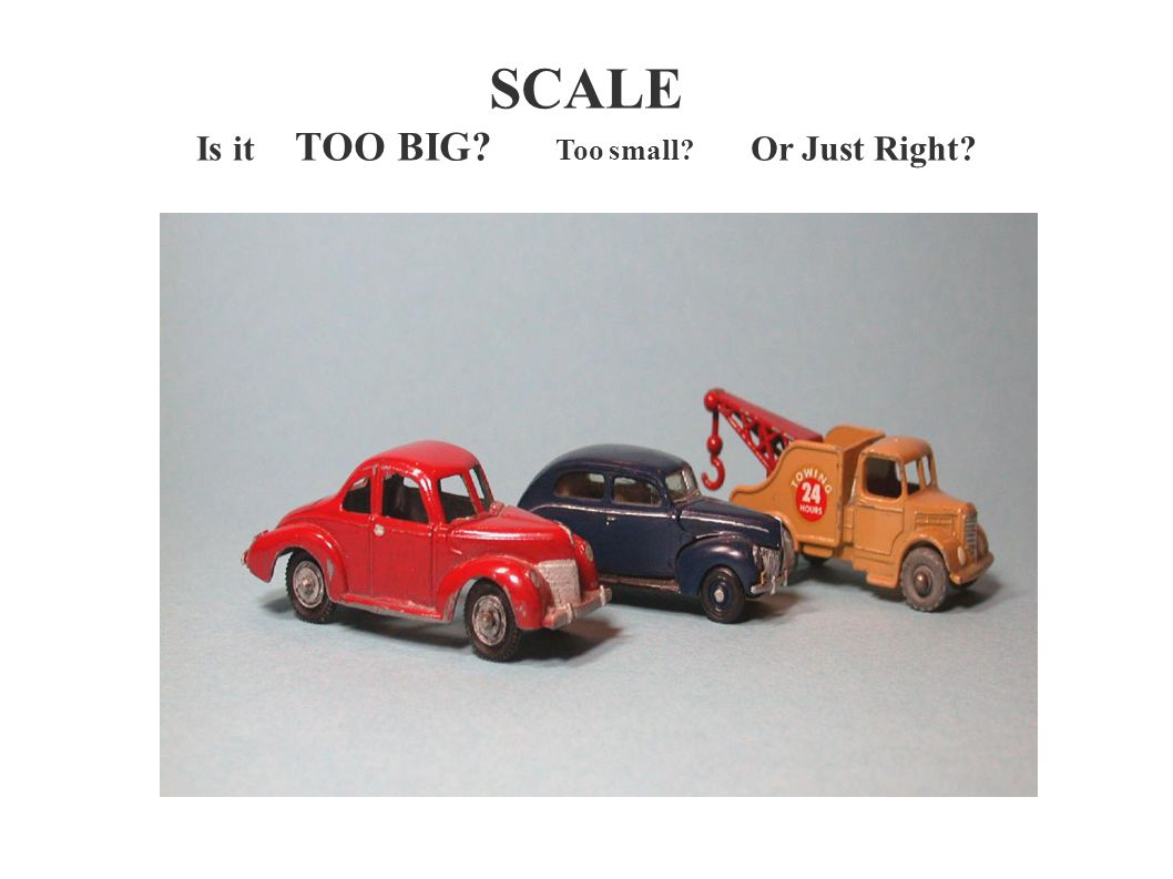 SCALE Is it TOO BIG Too small Or Just Right