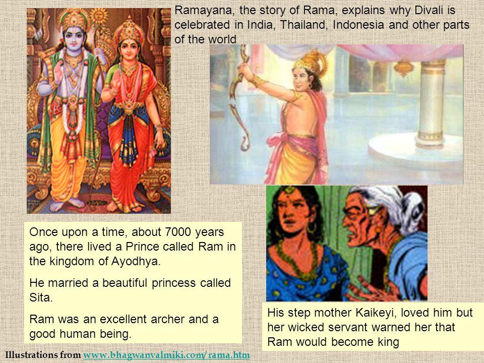 He married a beautiful princess called Sita.