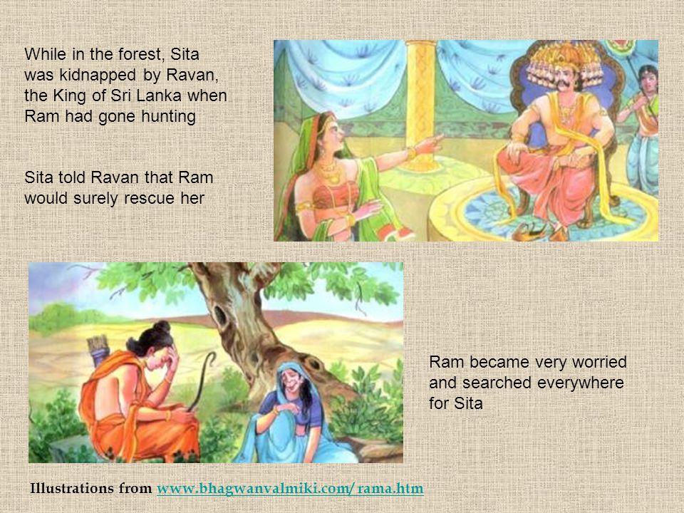 Sita told Ravan that Ram would surely rescue her