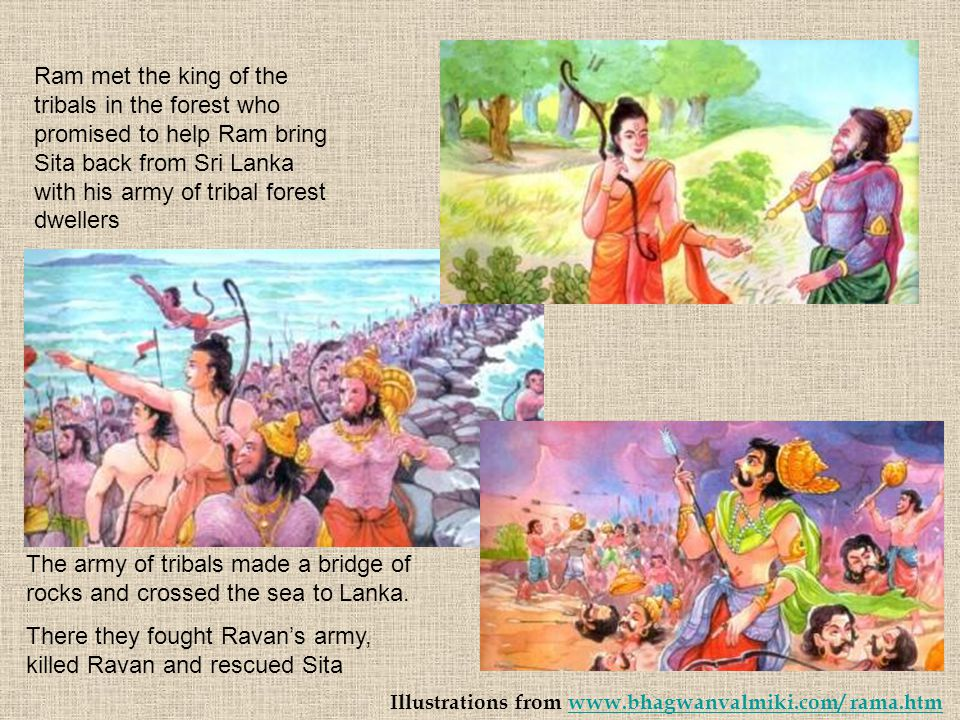 There they fought Ravan's army, killed Ravan and rescued Sita