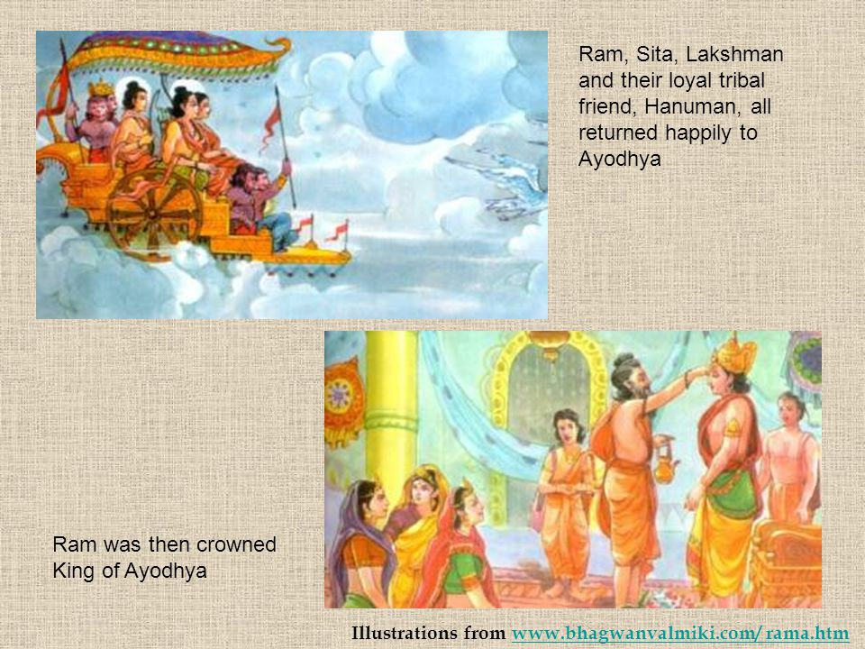 Ram was then crowned King of Ayodhya