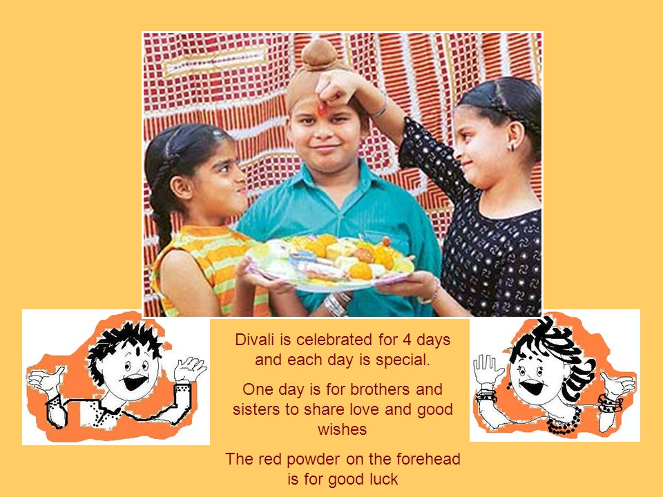 Divali is celebrated for 4 days and each day is special.