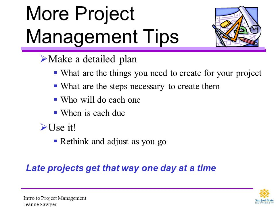 More Project Management Tips