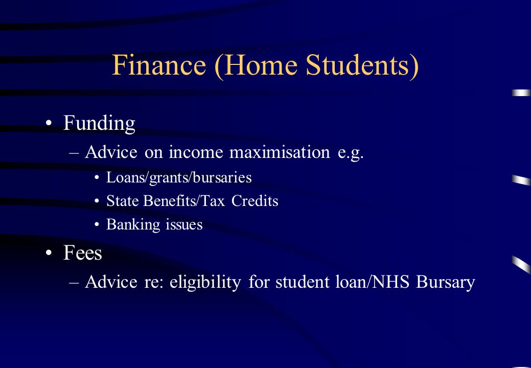 Finance (Home Students)