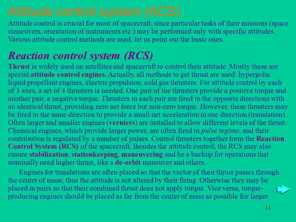 Attitude control system (ACS)