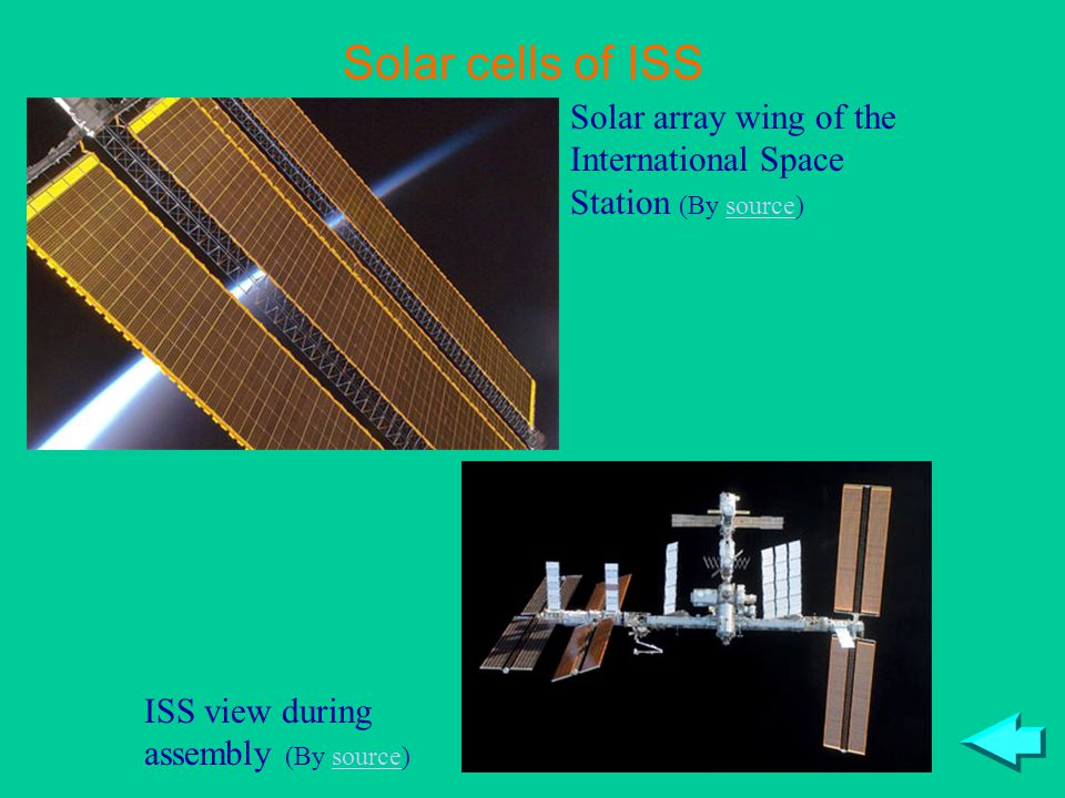 Solar array wing of the International Space Station (By source)