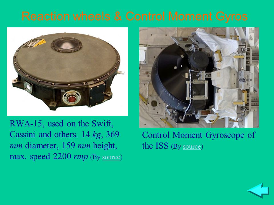 Reaction wheels & Control Moment Gyros