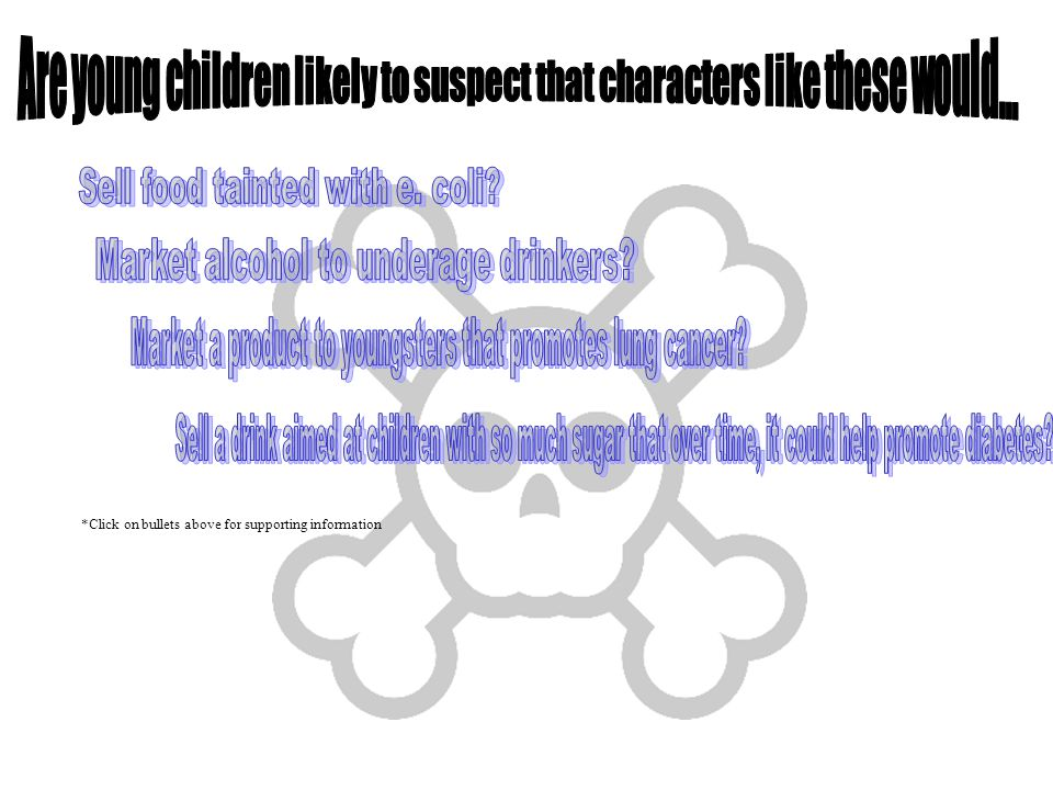 Are young children likely to suspect that characters like these would...