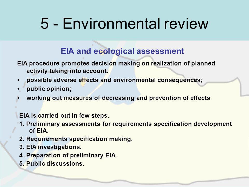 5 - Environmental review