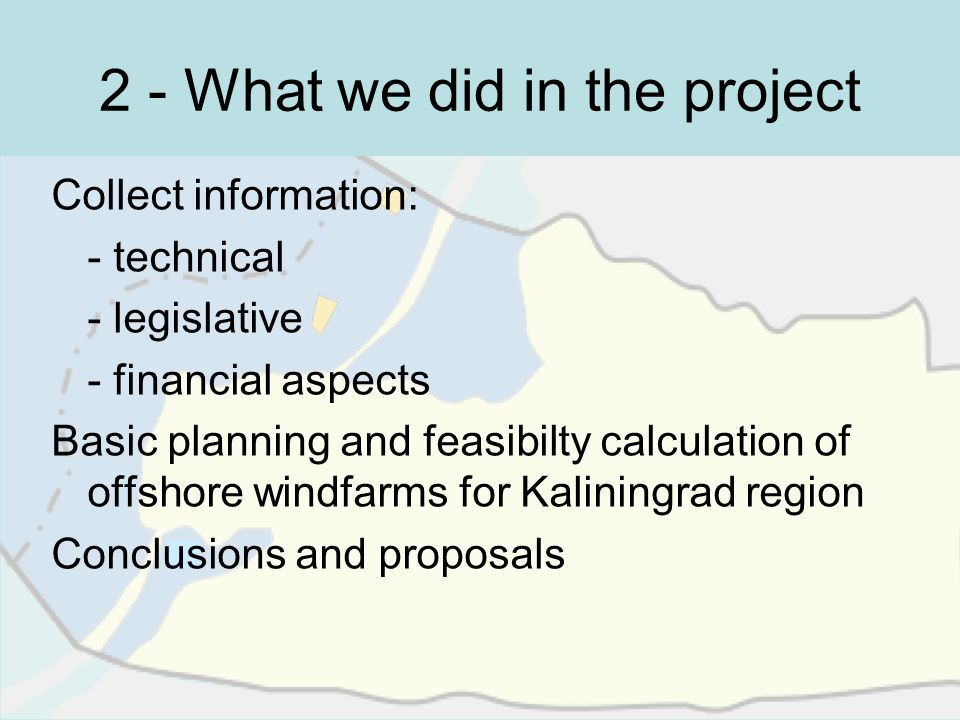 2 - What we did in the project