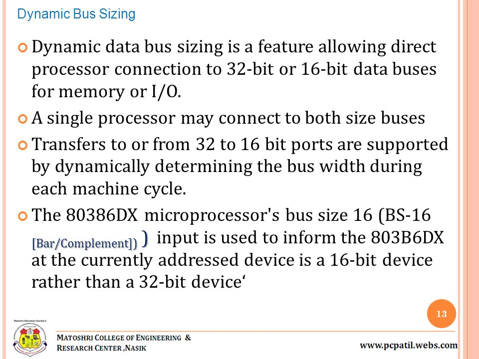 A single processor may connect to both size buses