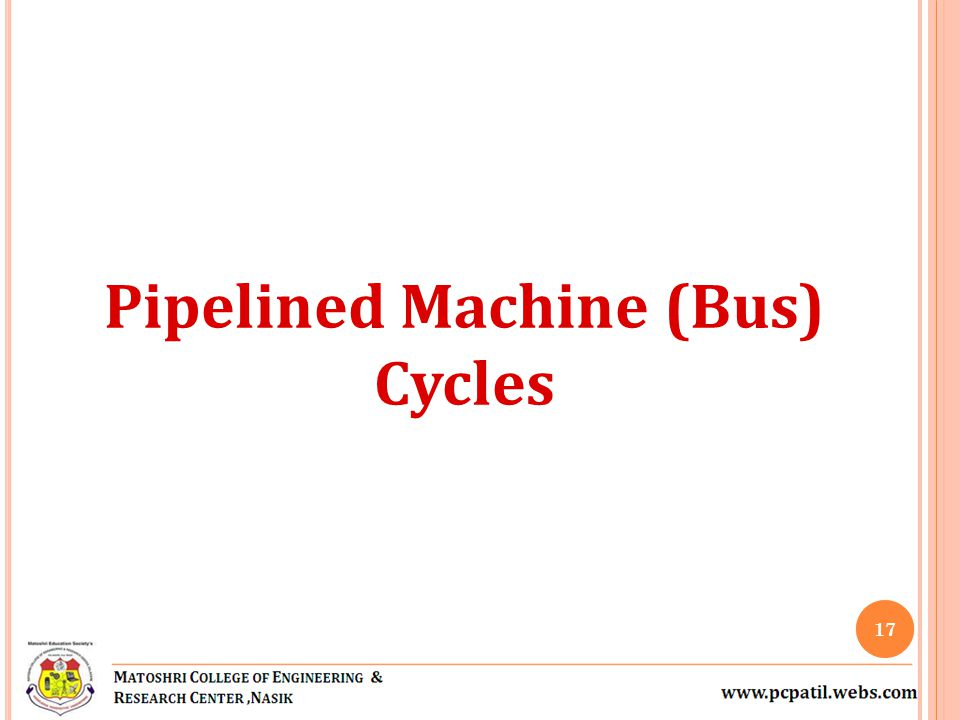 Pipelined Machine (Bus)