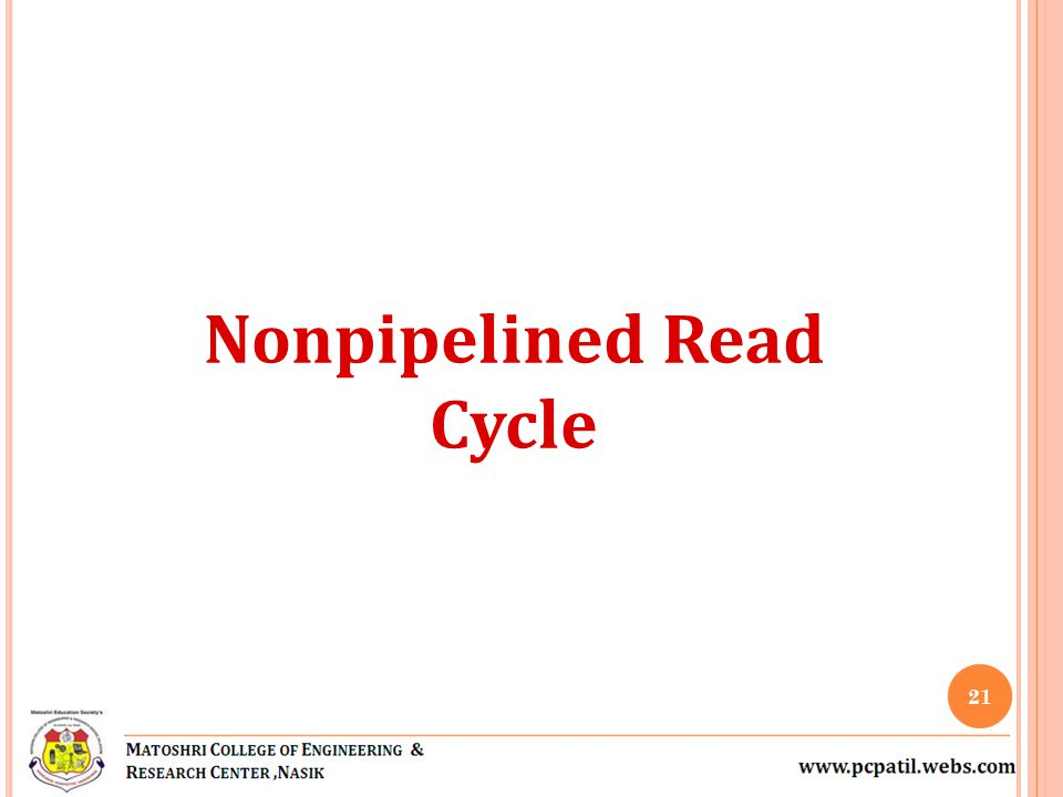 Nonpipelined Read Cycle