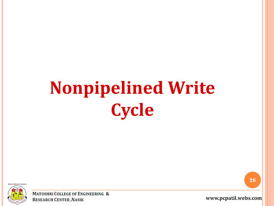 Nonpipelined Write Cycle