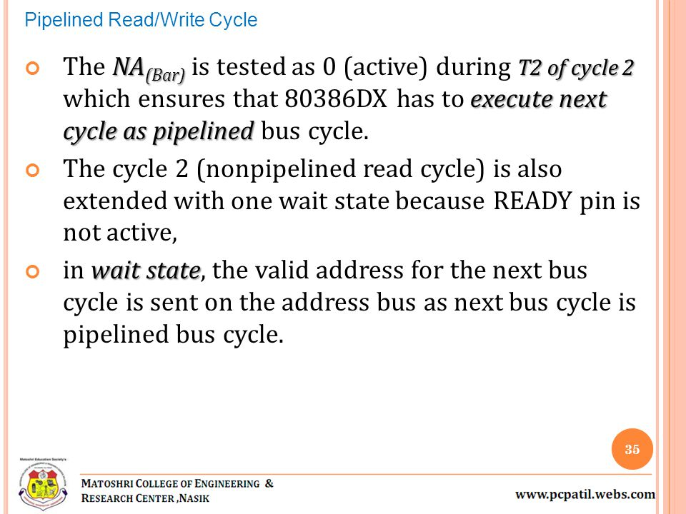 Pipelined Read/Write Cycle