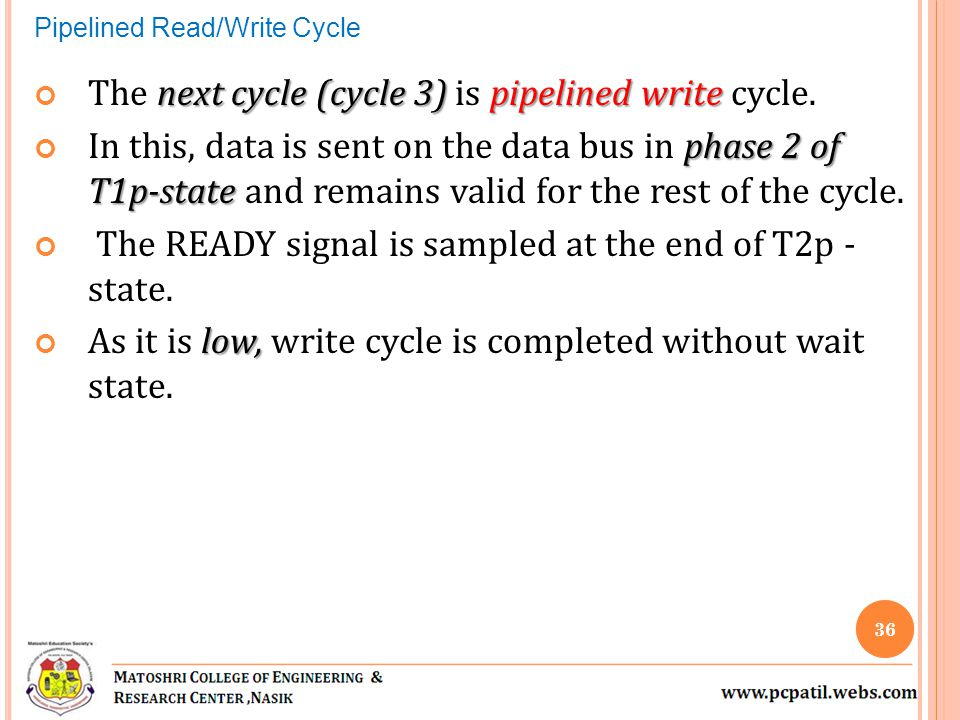 The next cycle (cycle 3) is pipelined write cycle.