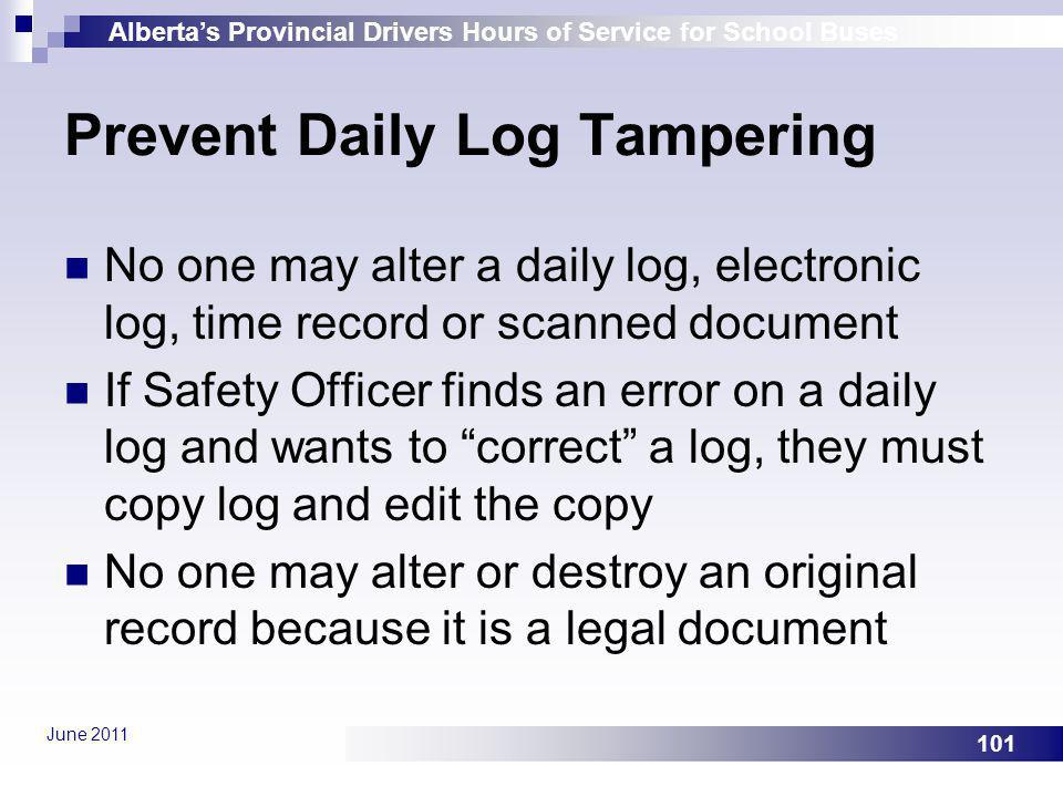 Prevent Daily Log Tampering