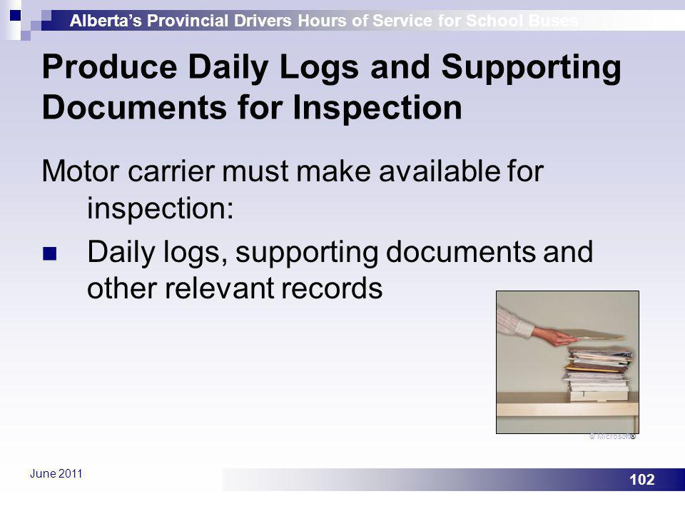 Produce Daily Logs and Supporting Documents for Inspection