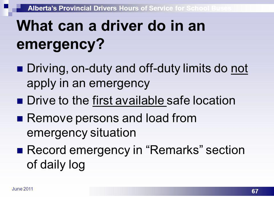 What can a driver do in an emergency