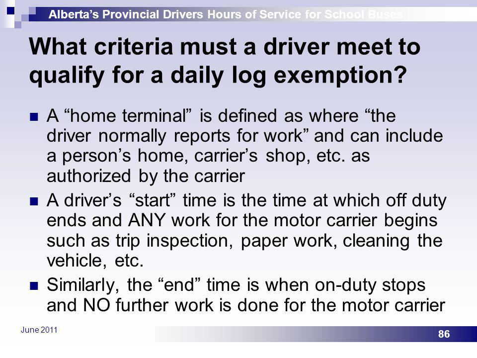 What criteria must a driver meet to qualify for a daily log exemption