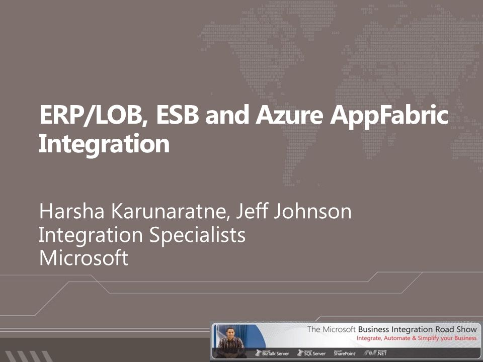 ERP/LOB, ESB and Azure AppFabric Integration