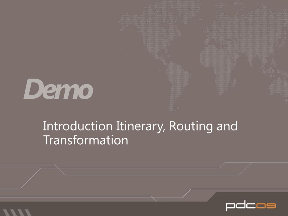 Introduction Itinerary, Routing and Transformation