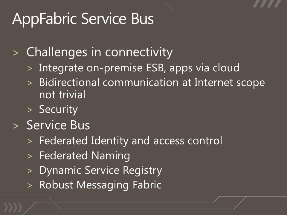 AppFabric Service Bus Challenges in connectivity Service Bus